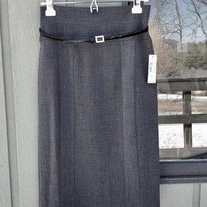 NWT Worthington skirt black eoe belt